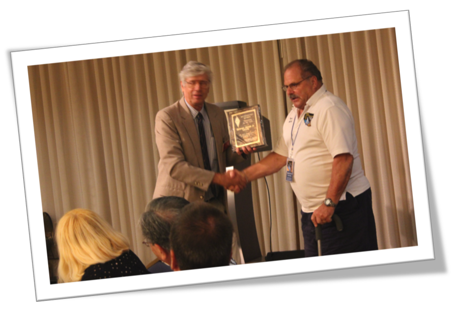 George N6VNI - Receives - ARRL Volunteer of the Year SWD - at the Hamcon SWD Convention Sept 12 2015