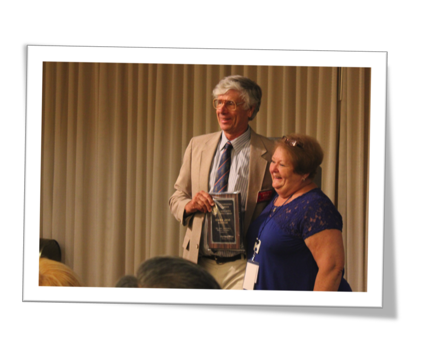 Kris KC6TOD- Receives - ARRL SWD Meritorious Service Award - at the Hamcon SWD Convention Sept 12 2015